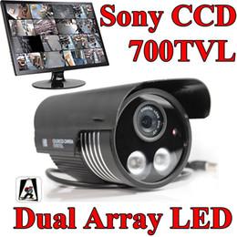 Wholesale Dual Ccd Camera - 700TVL Dual ARRAY IR LED Sony CCD Security camera 8mm waterproof CCTV Camera