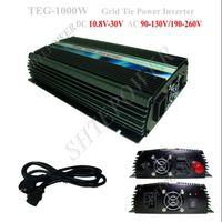 ingrosso griglia legata inverter di potenza-1KW On Grid Tie Inverter a pannello solare, 1000w On Grid Solar Power Inverter, DC 10.8V ~ 28V a AC 220V