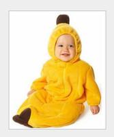 Wholesale Magic Banana - 4 design Baby pea,banana Sleeping Bag Magic sleep bags FLEECE Infant Children's green rompers MOQ:30pcs