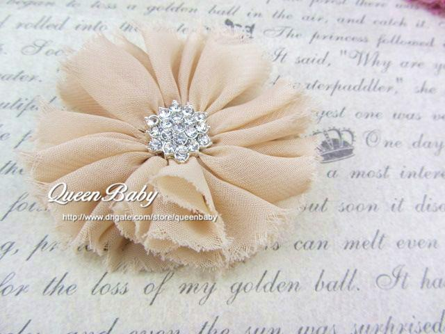 Vintage Chiffon Shabby Look Flower Hair Clip Shoe Clips Infant Hair Accessories Newborn Photography Props QueenBaby