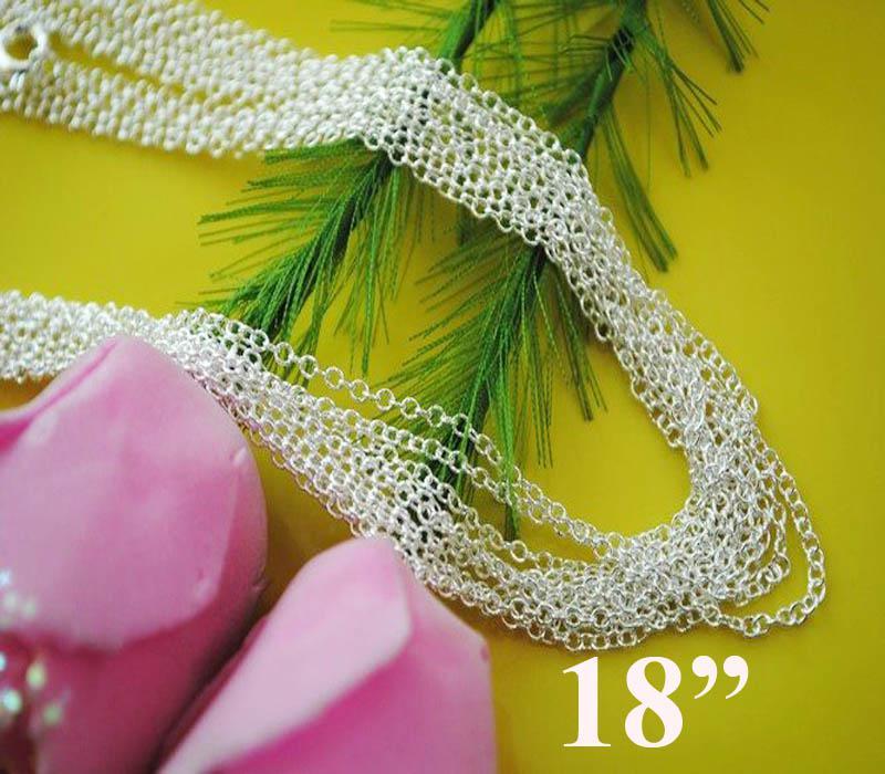 Nouveau Style Argent 925 1mm Thin