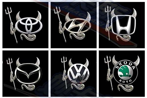 Cheap 3D Metal Devil Car Stickers Decals Silver Cool Bumper Stickers Car badge Emblems