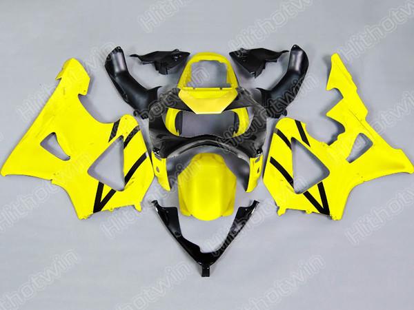 Kit de carenado de motocicleta para HONDA CBR900RR 00 01 CBR-900RR CBR 900RR 929 2000 2001 Molde de inyección Conjunto de carenado negro amarillo