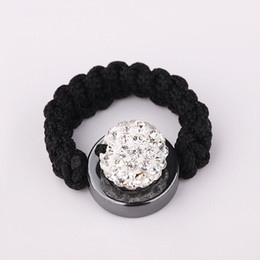 Wholesale Channel Ball - Cute 10mm Shining Crystal Pave Disco Ball Crystal Bead Handmade Finger Rings 30pcs Hot Sale