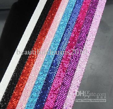 30 tiras de 8 mm de ancho / 1 m de longitud Cinturón de cuero brillante de PU Sin hebilla en forma para letras de diapositivas de 8 mm diy