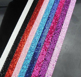 Slide Belts Fit Canada - 30 strips 8mm wide  1m length Shiny PU leather belt Without Buckle fit for 8mm diy slide letters