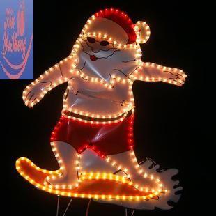 led tube lamp surfing santa claus lantern lighting christmas lights santa christmas lights santa - Tube Christmas Lights