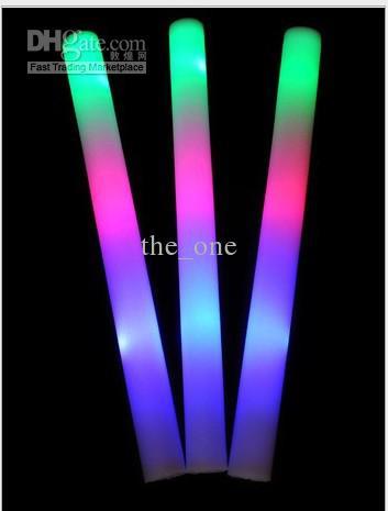 EMS SNELLE GRATIS VERZENDING 190 / PARTIJ 190 STKS + 20 STKS Gift LED Foam Stick Licht omhoog Juichen Glow Foam Stick Foam Glow Stick Led Stick