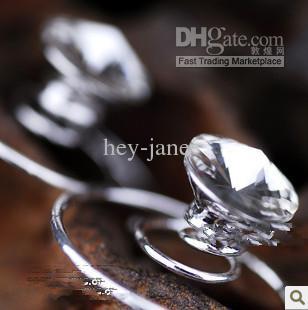 Gratis Verzending Groothandel Clear Spiral Hair Accessoire Party Crystal Hair Pin Wedding Party Sparkle Crystal Hairspen