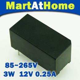 Wholesale Power Transistor Switch - 10PCS lot 3W AC-DC 85~265V 220V 110V 12V 250mA Switching Power Supply Module Converter #BV096 @CF