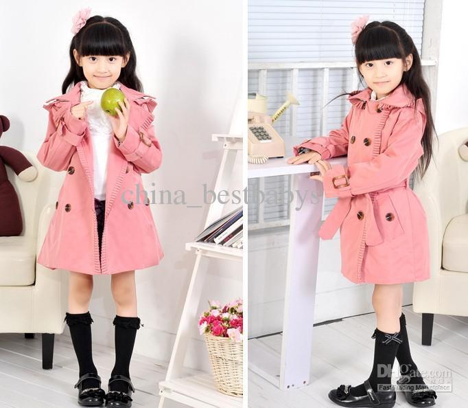 Girl Coat Autumn Coat Childrens Hoodies Trench Coats Girls/Kids ...