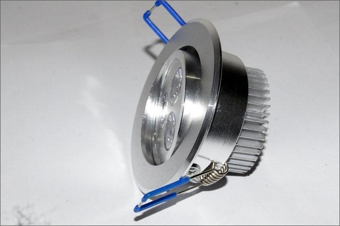 3 W LED Tavan Işık 85-265 V Dim LED Downlight Spot Armatür Lambası Beyaz, Sıcak Beyaz - 50 adet