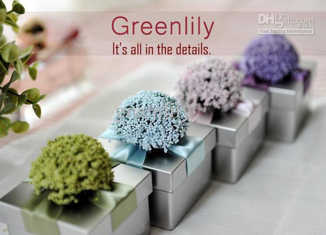 Европейский стиль свадебная коробка конфет с красочной лентой и цветами Tinplate синий фиолетовый розовый зеленый