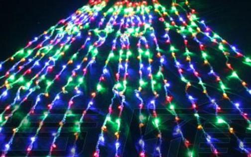 Running Water Lights 640 LED-lampor 6 * 3M gardinljus, jul prydnadsljus, fe bröllop flash Vattentät LED-lampa belysning