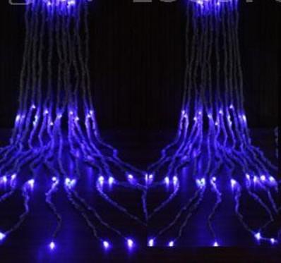 A água corrente ilumina as luzes da cortina dos bulbos 3 * 3m do diodo emissor de luz 336, luz do ornamento do Natal, flash feericamente do casamento