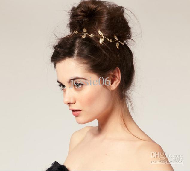 Fascia per capelli a forma di stella, fascia per capelli, ramo d'ulivo in oro, foglia allacciata, fascia per capelli, fascia elastica