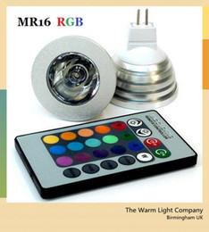 2019 cores led mr16 Na venda Led Lâmpada RGB MR16 3 W RGB Led 300LM Luz 12 V de Controle Remoto de poupança de Energia 16 cores cores led mr16 barato