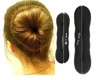ingrosso pelo di capelli piccolo-20 paia Sponge Bun Clips Maker Precedente Foam Twist Hair 20X Large + 20X Small Confezione Retail