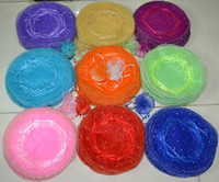 Wholesale Diameter Round Organza - Free Ship 400pcs 26cm Diameter Dots Round Organza Plain Jewelry Bags Wedding Party Candy Gift Bags