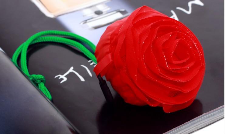 Eco Herbruikbare Winkelen Schouder Tote Tas 50 Stks Rose Cute HG966 gratis verzending