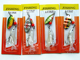Wholesale Spinning Fishing Lure - free shipping --spoon Spin bait with fish-shaped soft lure with a hook 4g 7cm per piece