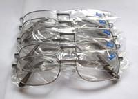 óculos de sol de visão distante venda por atacado-Óculos de Leitura baratos Armação de Metal Óculos de Visão Longo-avistado Óculos de Prata E Moldura de Ouro Cor 50 pçs / lote 8801
