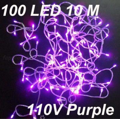 10M 100 LED 문자열 조명 보라색 컬러 플래시 크리스마스 파티 요정 웨딩 램프 /