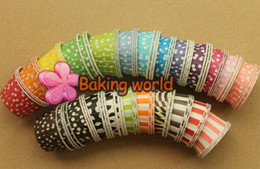 Wholesale Polka Cups Paper - Hot selling 2000pcs Mixed 17 color Polka DOT 6 color Stripe Round MUFFIN Paper Cake Cup Cake case