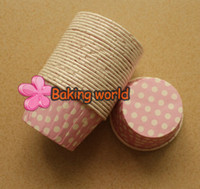 Wholesale Sell Muffin Cups - Hot selling 2000pcs Color 45 Round MUFFIN Paper Cake Cup Cake case Polka Dot Cupcake case