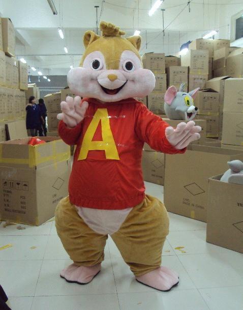 new alvin mascot squirrel costume alvin and the chipmunks mascot costume halloween mascot child. Black Bedroom Furniture Sets. Home Design Ideas