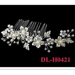 2018 Livraison gratuite en stock 100% à la main en cristal de perle torsadée mariage Floral mariage peigne cheveux peigne ? partir de fabricateur