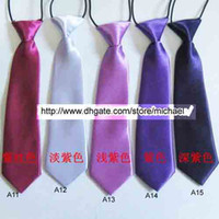 Wholesale Ties Solid Colours - Children Ties Necktie Boys Girls Tie Baby Scarf gentry Neckwear free choose colour
