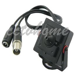 Wholesale Mini Pinhole Color Camera - Mini HD 600TVL 1 3 CMOS 2.8mm Pinhole 100 Degree Surveillance Color CCTV Camera