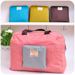 Wholesale Collapsible Storage Bags - Multi-functional zipper storage bag Shopping the package collapsible shoulder waterproof travel bag