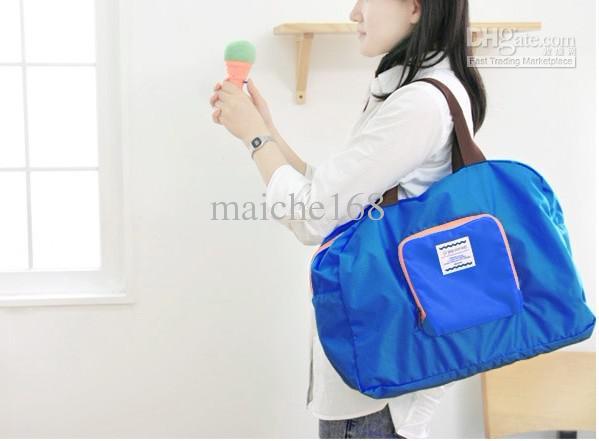 10個のピースのジッパー収納バッグのショッピングパッケージ折りたたみ肩の防水トラベルバッグ