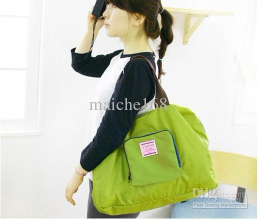 Bolsa de almacenamiento multifuncional con cremallera Comprando el paquete bolsa de viaje impermeable con hombro plegable