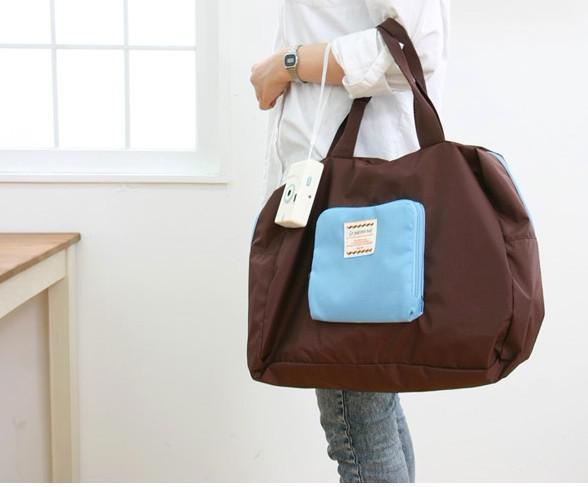 10 st Zipper Storage Bag Shopping Paketet hopfällbar axel vattentät resväska
