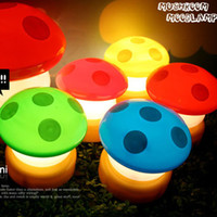 Livraison gratuite New Lovely LED Mushroom Push Touch Light Lampadaire