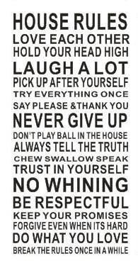 House Rule Rules Wall Sticker In This House Wall Quote Saying - House rules wall decals