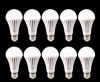 Wholesale E27 Led Lamp White - 10x E27 7W LED Lamp Bulb AC85V-260V White\Warm Light Energy Saving Bright