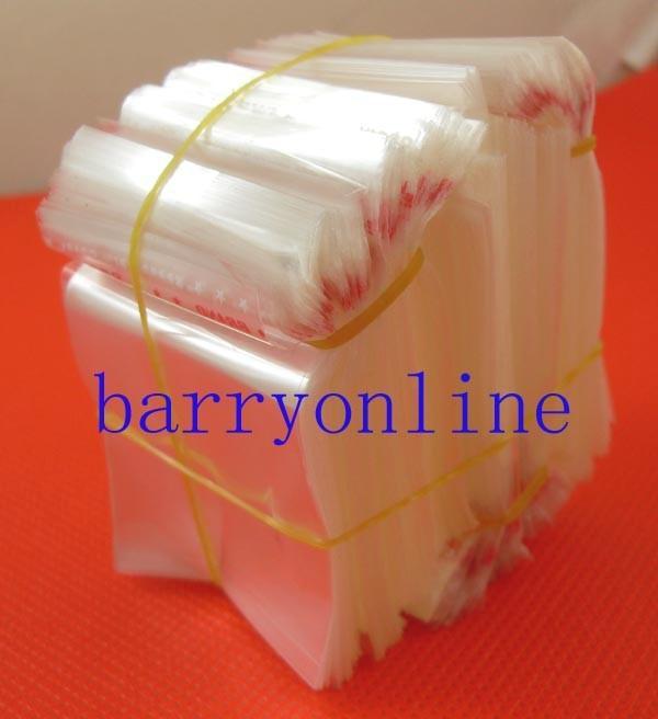 1000 x sacchetti di plastica autoadesivi trasparenti Borsa per pacchetti OPP 4x4cm Spedizione gratuita