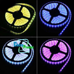 Wholesale 24 Blue Led 12v - RGB LED light strips SMD5050 300LED Waterproof+24 Keys IR Remote Controller+5A Power Supply 10pcs