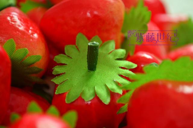 الفاكهة الاصطناعي البلاستيك الفراولة ديكور المنزل لعبة تعليمية للأطفال /