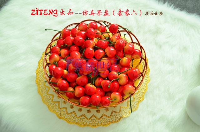 Artificial Frutas De Plástico Cereja decoração de casamento em casa 200 pcs 100 pcs