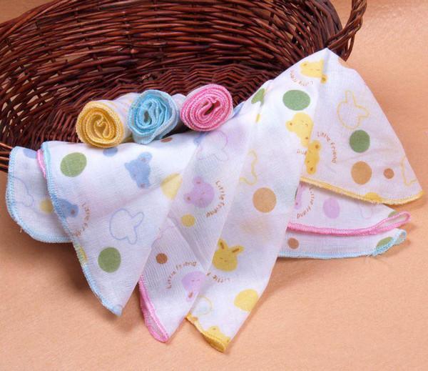 baby muslin cloths Baby cotton double gauze cartoons printed handkerchief towel Bath.