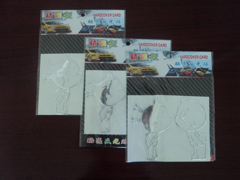 / mycket billiga klistermärken för bil PVC Pobbaby 12 * 10cm Tre färg Roliga bilklistermärke från Kina