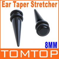 Wholesale Ear Stretcher Fake - Magnetic Fake Cheater Ear Expander Taper Plug earrings Stretcher 0g 8mm ear Expanding Kit H8674