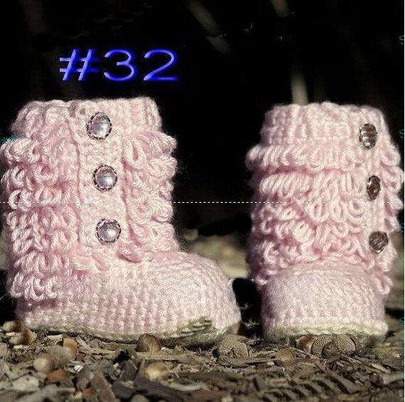 bambino neonato scarpe a maglia stivali fatti a mano all'uncinetto scarpe fatte a mano bambino, tinta unita 10pairs (20pcs) scarpe presepe battesimo scarpe calzature