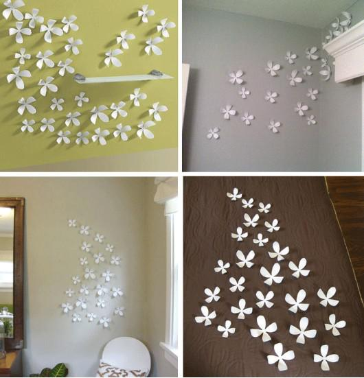 SML Acrylic Crystal D Flower Sofa Wall Sticker Pop Up House - How do you put a wall sticker up