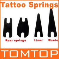 Wholesale Liner Spring Tattoo - 10sets lot, Tattoo supplies 1 Pair Shader Springs & 1 Pair Liner Springs for Tattoo Machine H8778